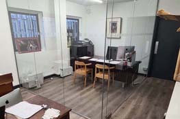 glass office partition london