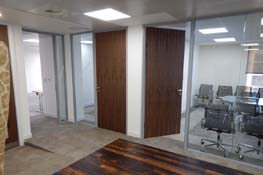 glass office partitioning london